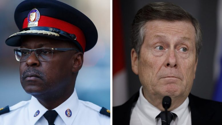 Cole: Toronto's police chief makes more than the city's mayor 1
