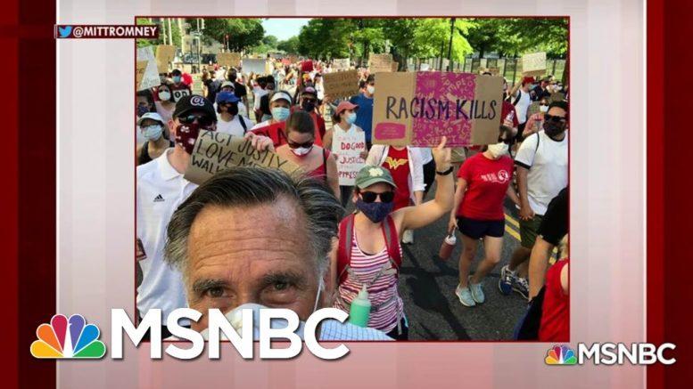 Mitt Romney Marches In Black Lives Matter Protest | Morning Joe | MSNBC 1