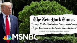 Trump Urges Governors To Be Tougher In Crackdowns On Protests | Deadline | MSNBC 8