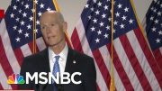 GOP Senators Refuse To Respond To A Conspiracy-Theory Tweet From The President | MTP Daily | MSNBC 3