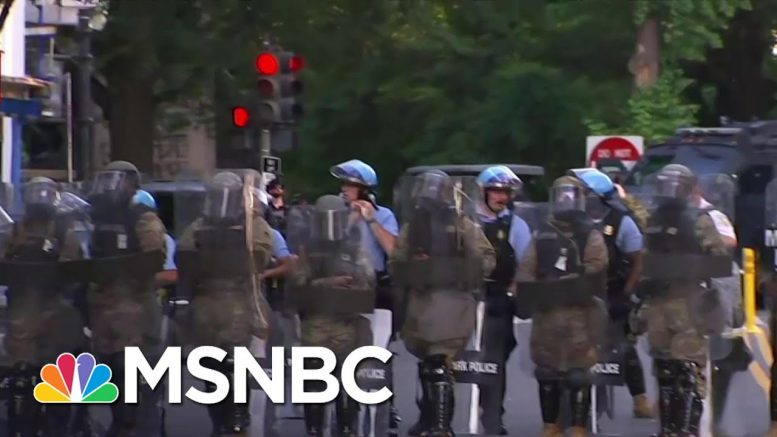 Protestors Forced Out Of Lafayette Park Before Trump Visits Church | MSNBC 1