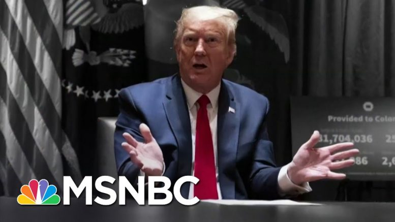 Trump Tweets An Attack On A Protester As George Floyd Is Laid To Rest | The 11th Hour | MSNBC 1