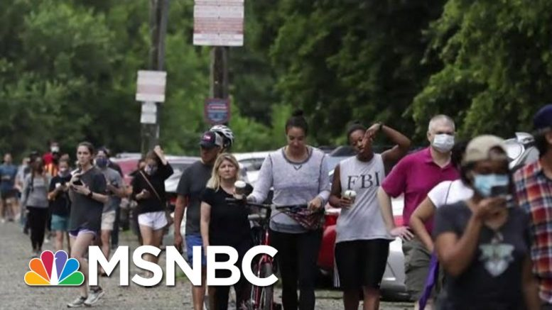 Chaos At Georgia Polling Sites Prompts Many To Turn Away | Morning Joe | MSNBC 1