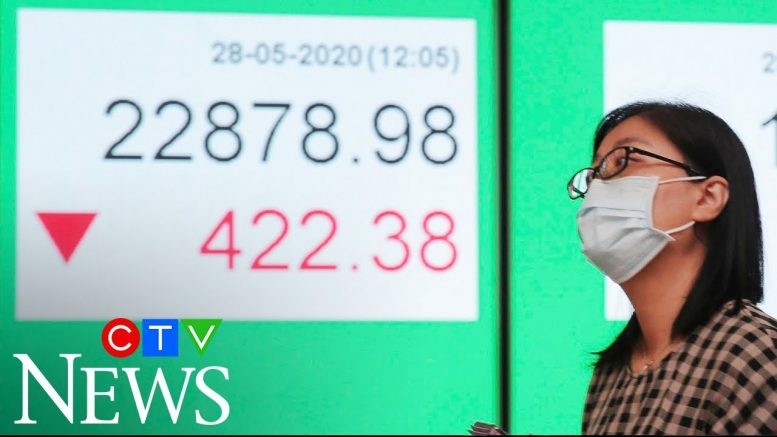 Global stock markets plunge over fears of second wave of COVID-19 1