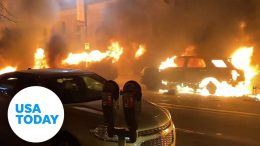 Peaceful George Floyd protests marred by bursts of violence | USA TODAY 8