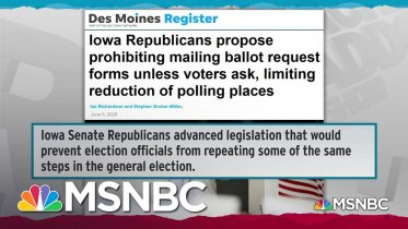 Record Turnout Moves Iowa GOP To Attack Successful Voting System | Rachel Maddow | MSNBC 6
