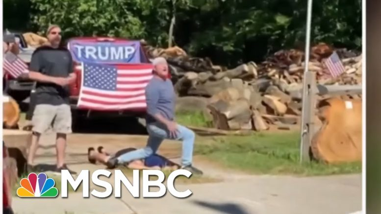 Video Shows Counter Protesters In N.J. Mocking George Floyd's Death   MSNBC 1