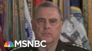 Gen. Milley Apologizes For Role In Trump's Church Photo-op | Craig Melvin | MSNBC 5