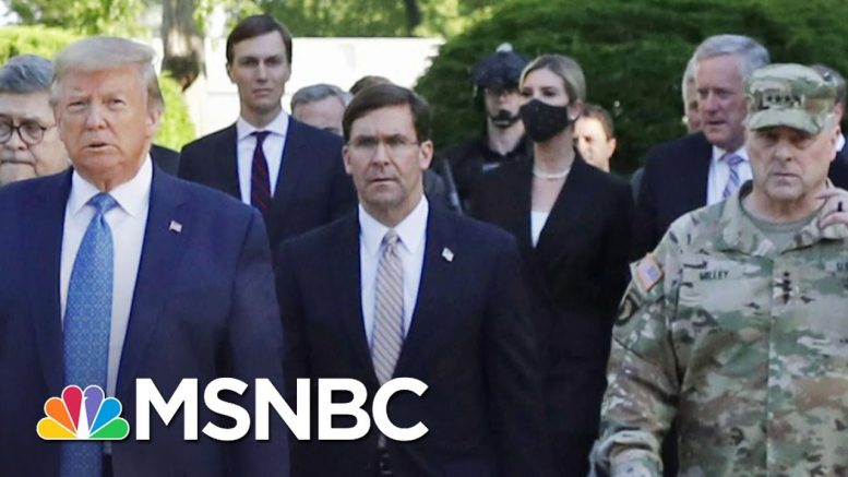 Joint Chiefs Chair Apologizes For Role In Trump's Church Photo-Op | MSNBC 1