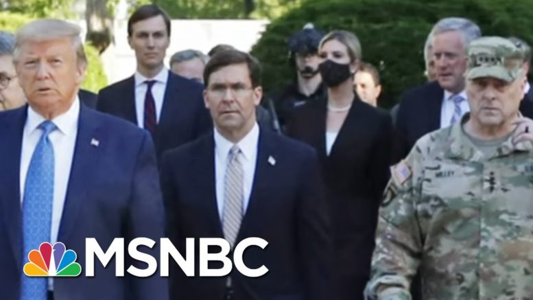 Military Leaders Push Back On Trump's Willingness To Use Them Against Civilians | MSNBC 1