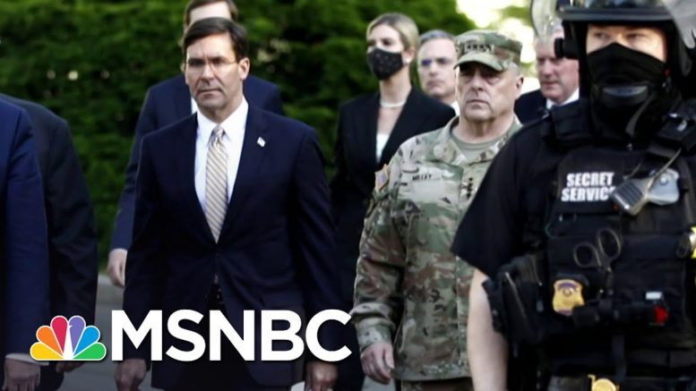 President Donald Trump's Military Crisis Of His Own Making | Deadline | MSNBC 1