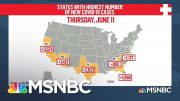 Localities Scramble To Curb Rising COVID-19 Rates Amid Vocal Opposition To Restrictions | MSNBC 2