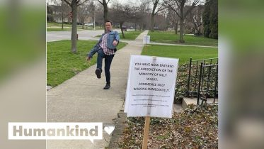Couple enforces silly-walking-only zone | Humankind 6