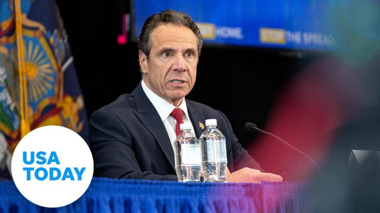 Gov. Andrew Cuomo holds news briefing as New York | USA TODAY 1