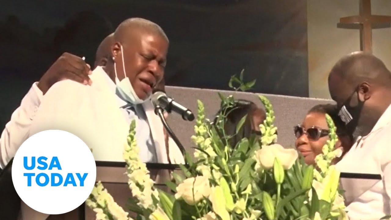 George Floyd's sister gives final goodbye | USA TODAY 6