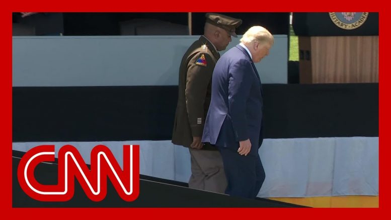 President Trump's West Point walk sparks questions about his health 1