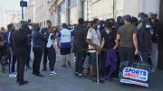 Long lines spotted in front of reopening stores in the U.K. 5