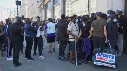 Long lines spotted in front of reopening stores in the U.K. 8