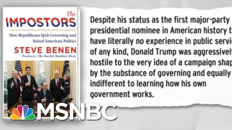 Trump Indifference To Governing A Symptom Of Post-Policy GOP | Rachel Maddow | MSNBC 1