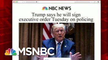 Trump To Sign Executive Order On Police Reform | Morning Joe | MSNBC 6