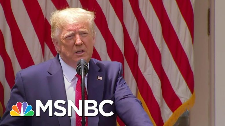 Trump On Police Guidelines: 'Chokeholds Will Be Banned' Unless Officer's Life At Risk | MSNBC 1