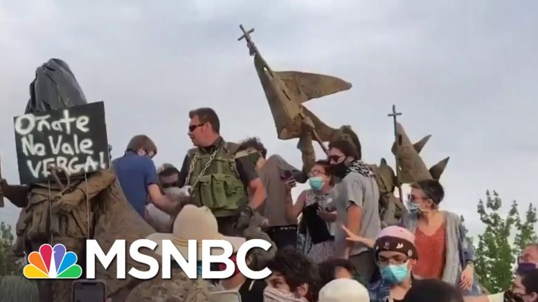 Man Shot During Protest Over Conquistador Statue In New Mexico | MSNBC 1