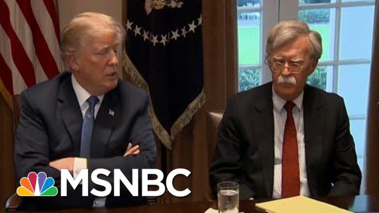 Justice Dept. Sues John Bolton To Stop Publication Of His Book | MTP Daily | MSNBC 1