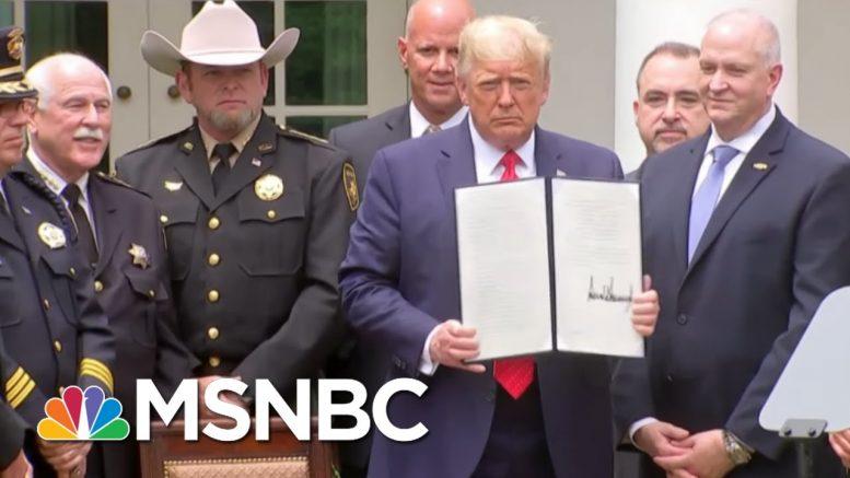 How Black Lives Matter Effectively Pushed Trump On Policing Reform   MSNBC 1