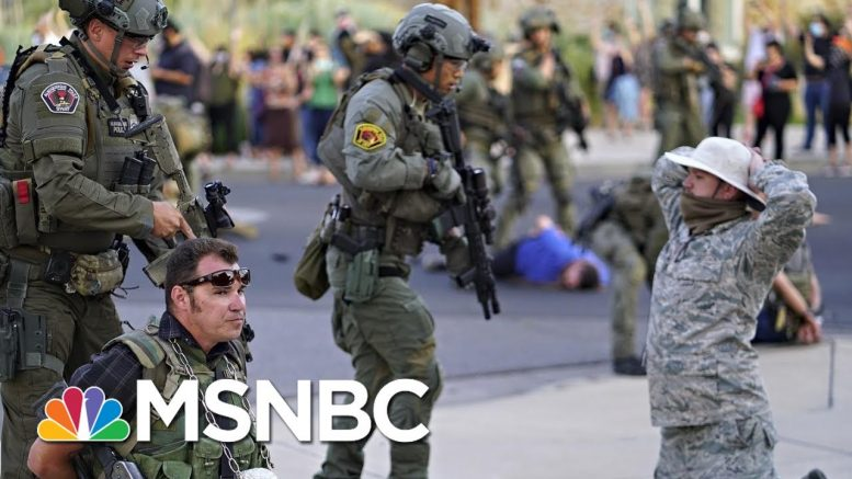 'Horrified': New Mexico Governor Reacts To Shooting At Albuquerque Statue Protest  | All In | MSNBC 1