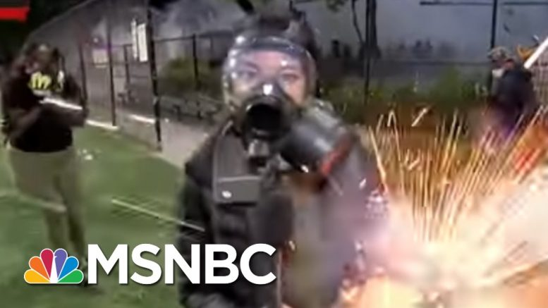 NBC News' Jo Ling Kent Hit By Firework As Seattle Protest Gets Chaotic | The 11th Hour | MSNBC 1