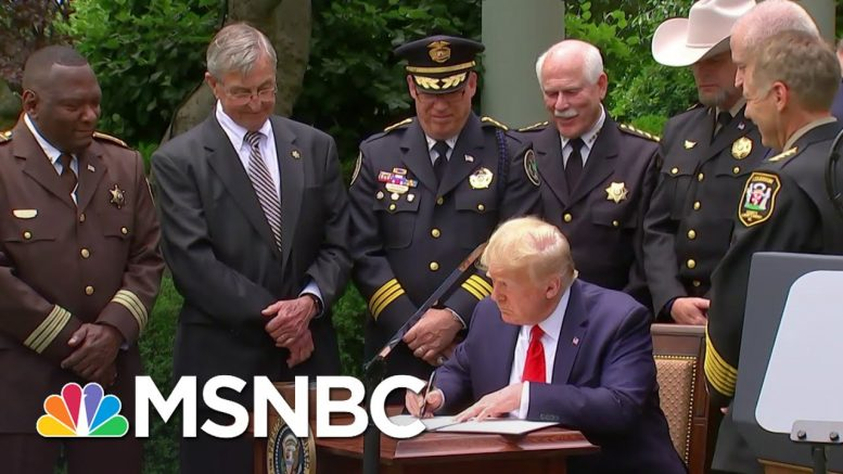 Democrats: Trump's Executive Order On Policing Won't Fix Anything | The 11th Hour | MSNBC 1