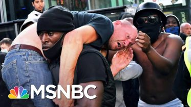 Black Protester Explains Why He Carried Counter-Protester To Safety | MSNBC 6