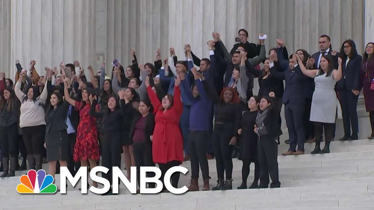 Trump Admin Sloppiness Hands Supreme Court Victory To DREAMers | Rachel Maddow | MSNBC 1
