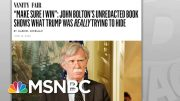 Trump Sought Even More Foreign Help To Retain Presidency: Bolton | Rachel Maddow | MSNBC 5