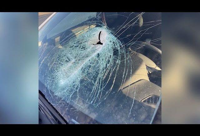Man needs facial surgery after debris hits windshield 1