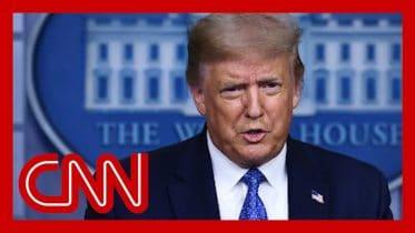 Reporter asks Trump if he's comfortable sending son to school 6