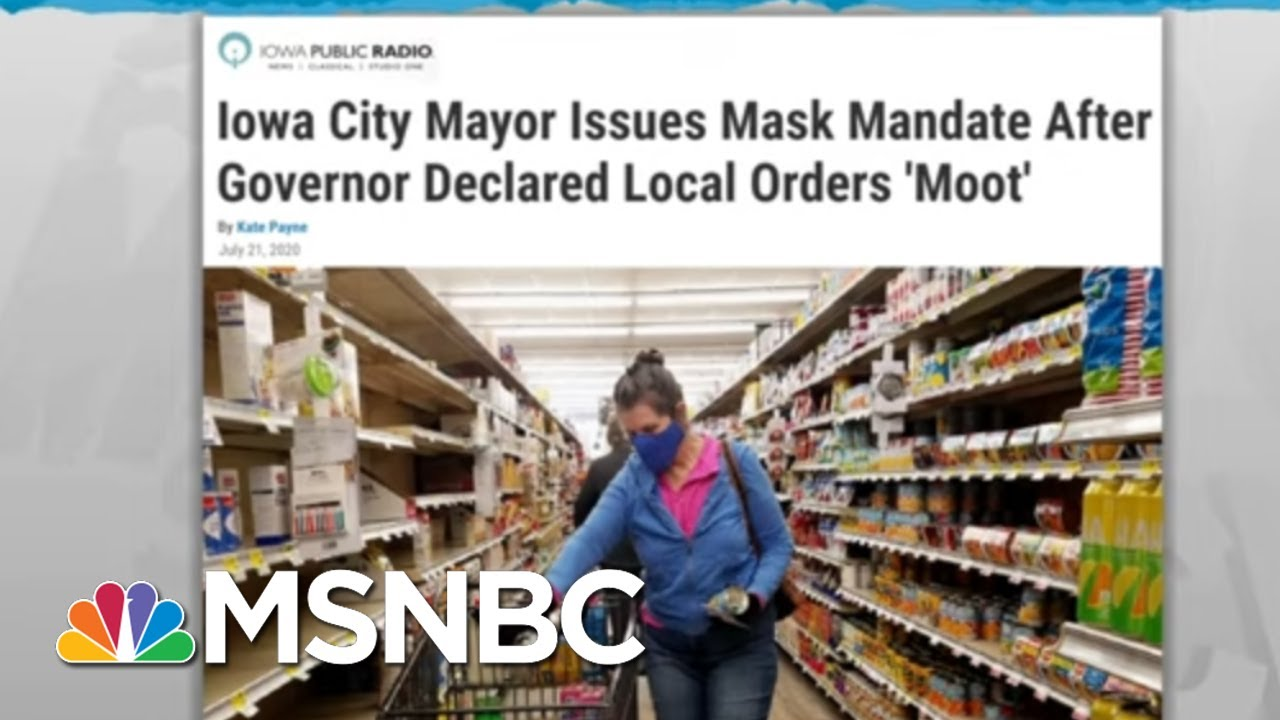 Local Mask Rules To Slow Coronavirus Undercut By GOP Governors | Rachel Maddow | MSNBC 1