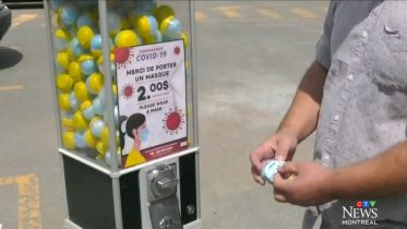 Montreal man selling masks out of gumball machines 6