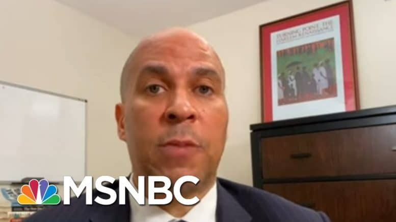 Booker: GOP Easily Passed Defense Bill, But Won't Defend Americans From Coronavirus | All In | MSNBC 1