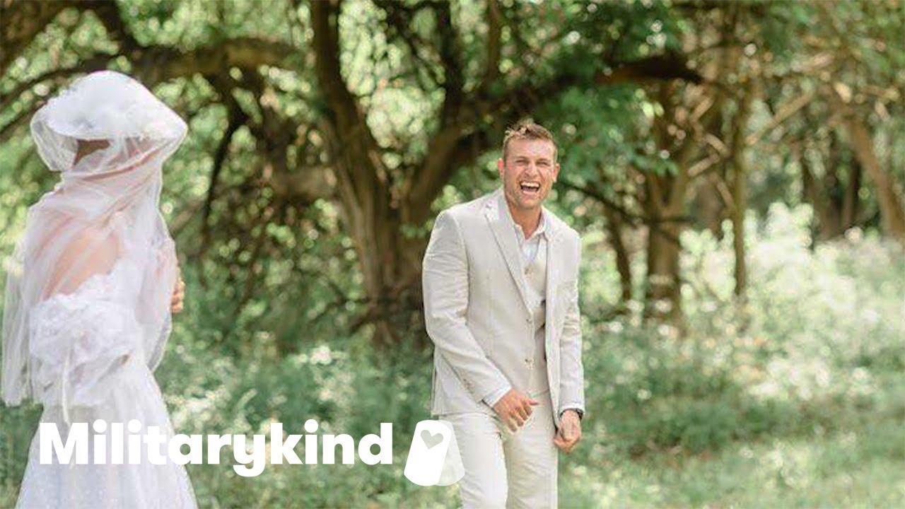 Groom gets the shock of his life during first look | Militarykind 4
