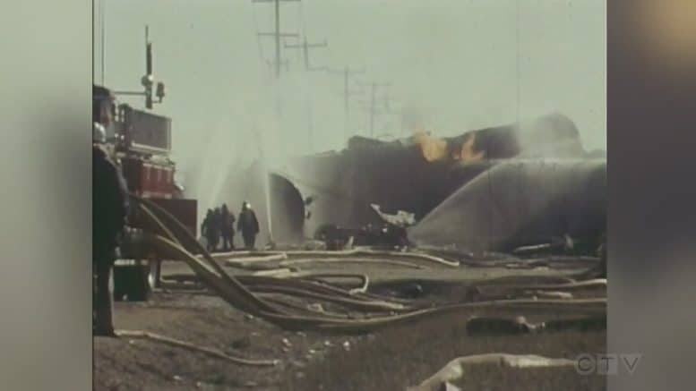 CTV News Archive: Scene from 1979 Mississauga, Ont. train derailment 1