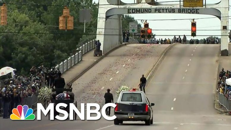 Rep. John Lewis' Casket Travels Across The Historic Edmund Pettus Bridge One Last Time | MSNBC 1