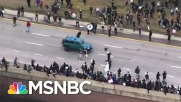 Jeep Drives Through Crowd of Black Lives Matter Protesters in Colorado   MSNBC 5
