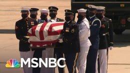 Rep. John Lewis Arrives In Washington, D.C., Ahead Of Capitol Ceremony   Craig Melvin   MSNBC 9