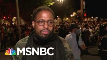 'Who's Escalating This? It's Not Us' Portland Protester Questions Federal Presence | MSNBC 6