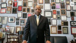 Rep. John Lewis honored by fellow civil rights activists in Selma service 7