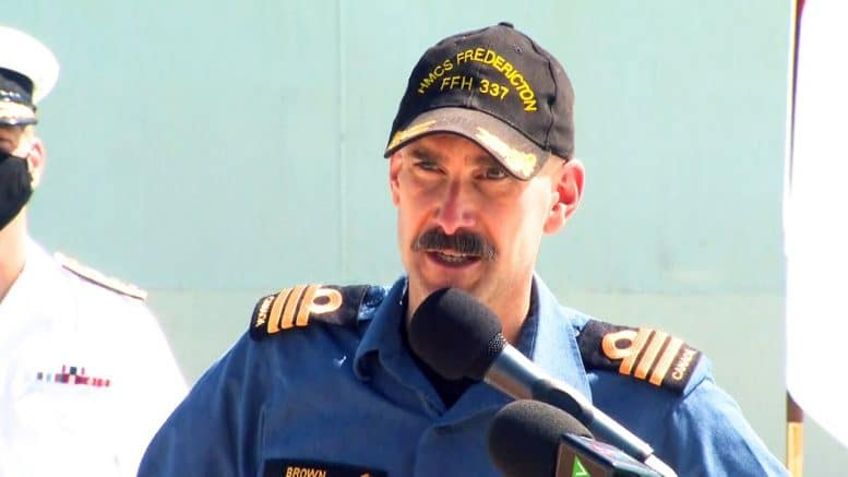 HMCS Fredericton commanding officer addresses crew upon return to Canada 1
