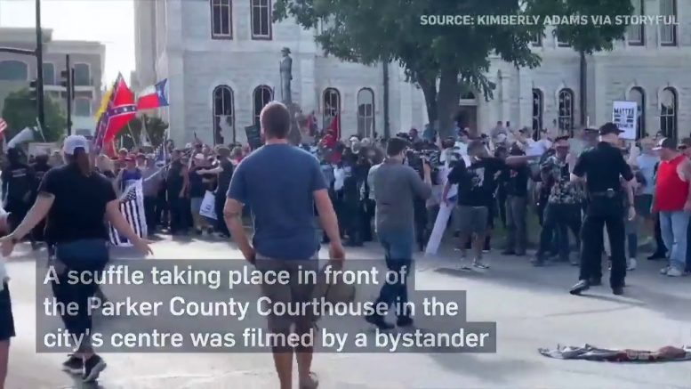 Rally to remove Confederate statue turns violent in Texas 1