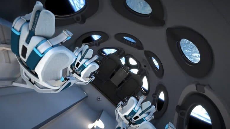 Commercial spaceship unveils interior cabin design 1