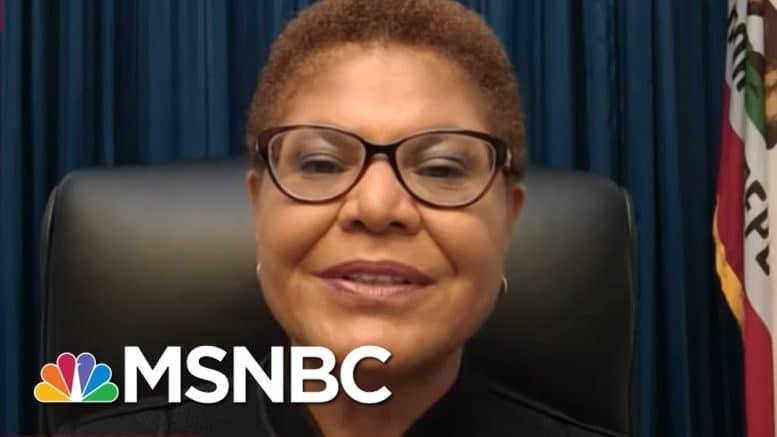 Rep. Bass: Hoping U.S. Can Hang On Until Biden Wins Presidency   Rachel Maddow   MSNBC 1